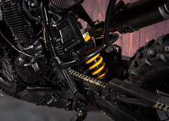 Kevils MOTO #25 Yamaha TT600r Custom Scrambler Army Bike