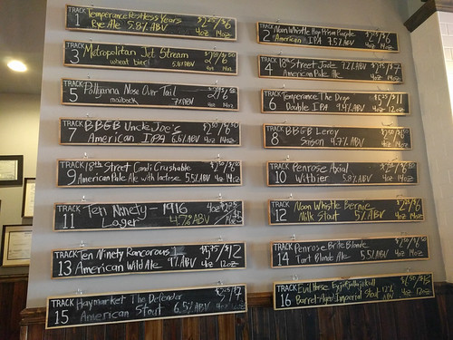 beer list @ Beermiscuous