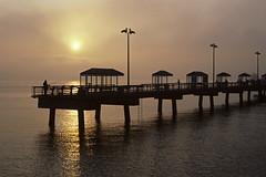 Fishing along Elliot Bay at Sunset