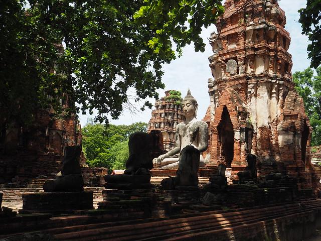 P6222661 ワット・マハータート(Wat Mahathat/วัดมหาธาตุ) アユタヤ タイ thailand 世界遺産