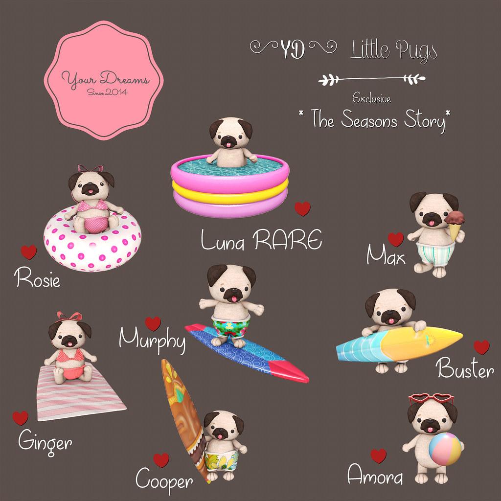 {YD} Little Pugs - SecondLifeHub.com