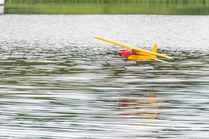Alan with his sea plane.