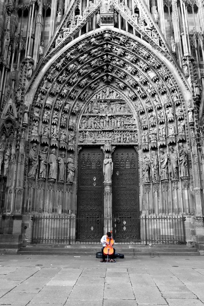 An artist at Strasbourg
