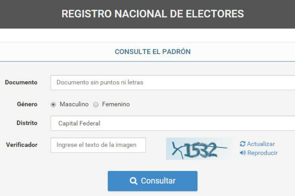 Padrón Electoral en misiones 2017
