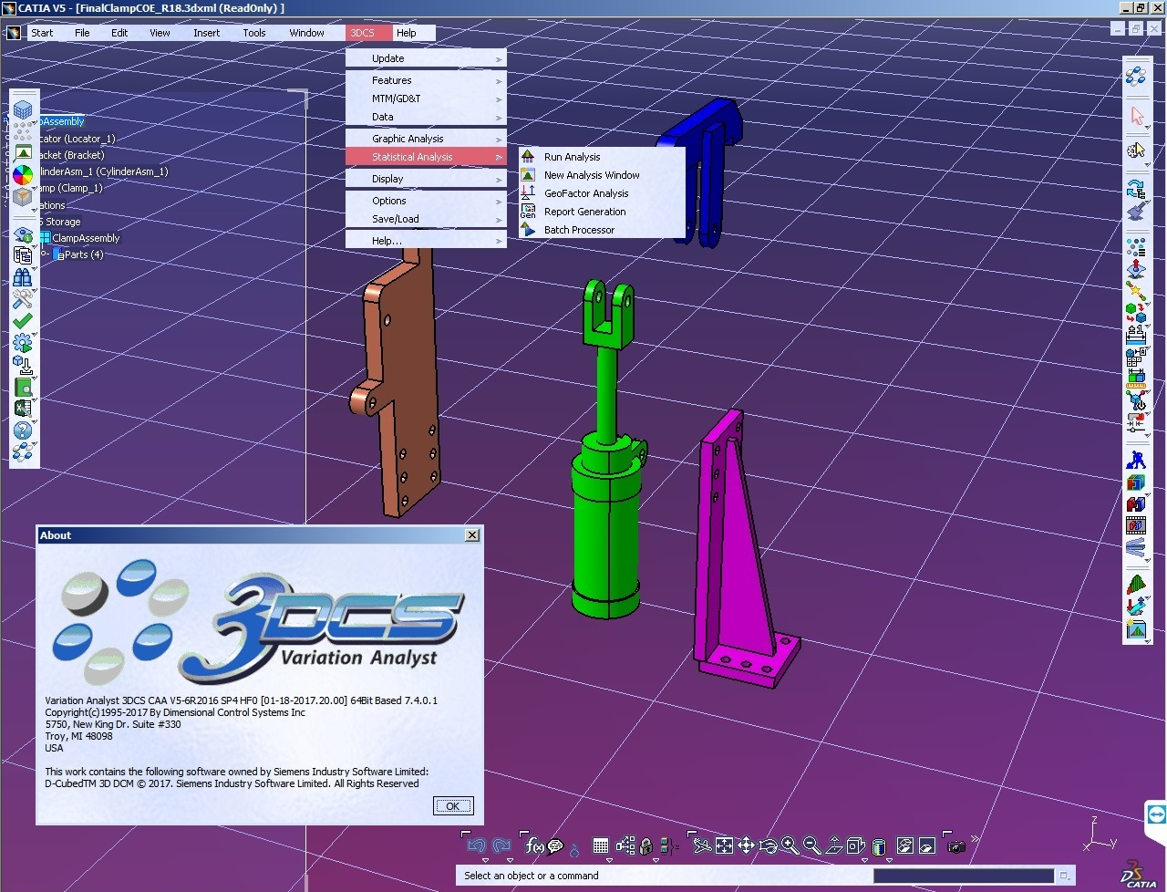 Working with 3DCS Variation Analyst 7.4.0.1 for CATIA V5 Win64 FULL