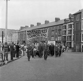 CND Cymru campaigning against Nuclear Arms, 1957-2017