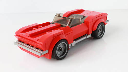 Lego 1967 Chevrolet Corvette in the Speed Champions style