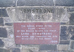 Photo of William Armstrong marble plaque