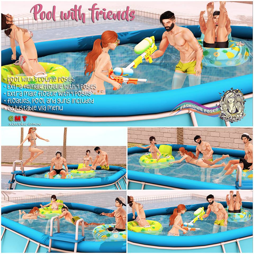 =fashiowl poses=Pool With Friends - SecondLifeHub.com