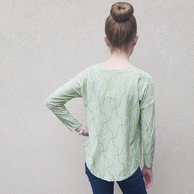 Hey June Patterns Morrison tee in jacquard knit from Super Cheap Fabrics