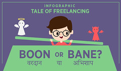 Tale of Freelancing Boon or Bane? (Infographic)