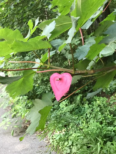 a pierced heart in Fort Tryon Park