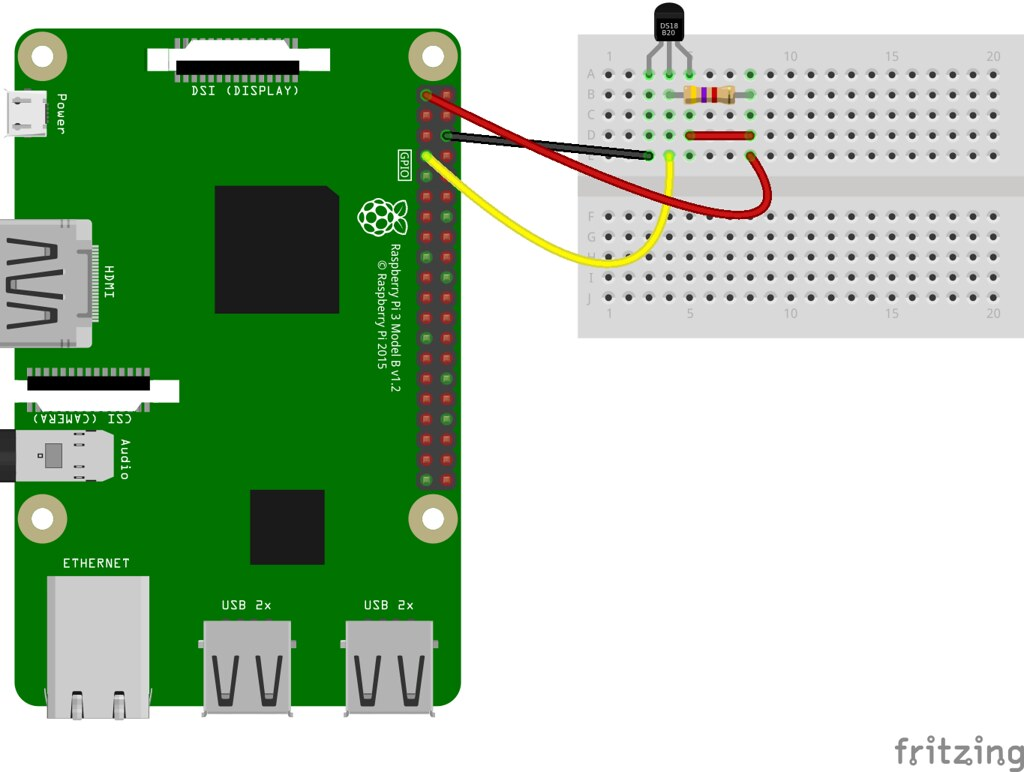 Ds18b20 Temperature Sensor With Python Raspberry Pi Detector Circuit A Very Simple Indicator Alt