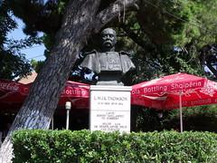Statue of Lodewijk Thomson, Durrës, Albania