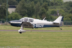 G-BSZF - 1965 Centre Est built Jodel DR250/160 Capitaine, arriving at Gloucester for Project Propeller 2017