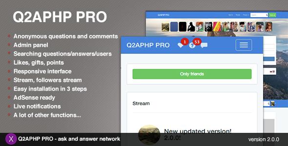 Q2APHP PRO v2.0.2 – q&a social network
