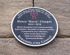 Photo of Harry Clasper black plaque