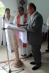 Alcalde de Chone participó en dedicación de iglesia católica de Ricaurte