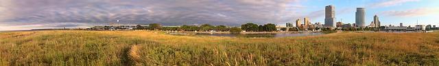 Morning on the Prairie at Lakeshore State Park (Mega-Panorama)