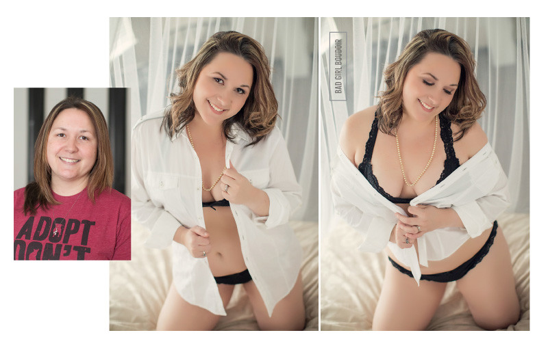 boudoir photography before and after makeover