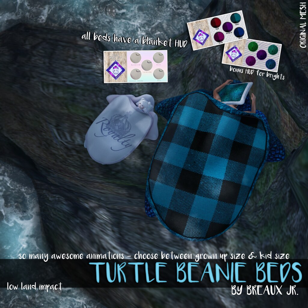 TURTLE BEANIE BEDS from BREAUX JR. - SecondLifeHub.com