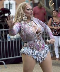 drag queens Jennifer Dion and Bianca Blake Starr  Hampton Virginia Downtown Block party