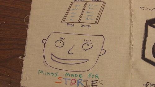 Minds Made for Stories Quilt Piece