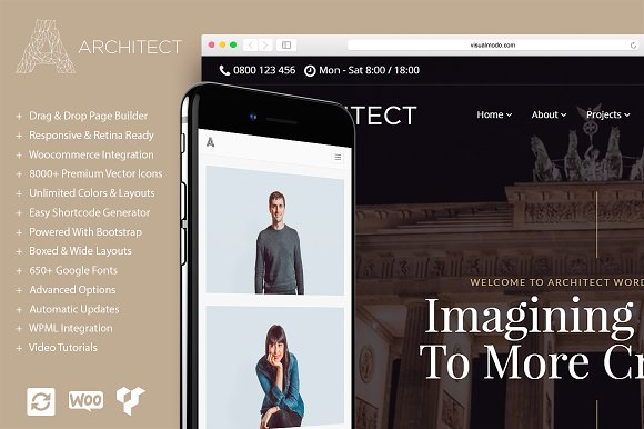 Architect v1.0.0 – Urbanism WordPress Theme