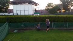 Everett And Emma Search For Woodlice During The Jack Johnson Concert