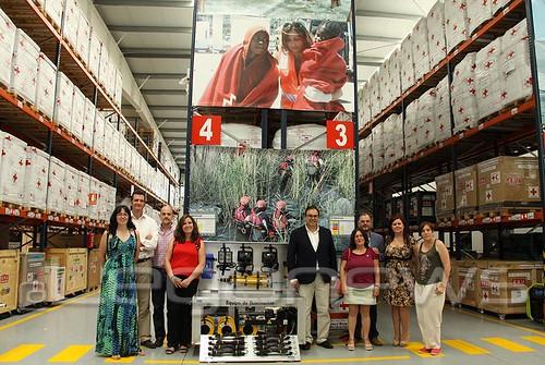 Visita institucional almacén Cruz Roja Española 05/07/2017