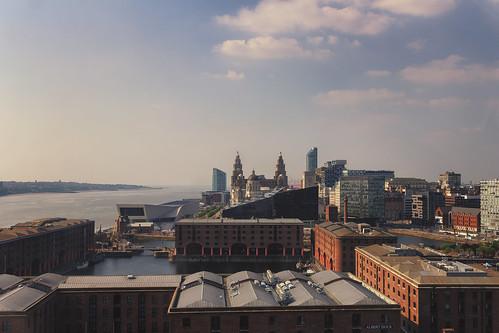 liverpool merseyside england uk britain travel skyline city street urban