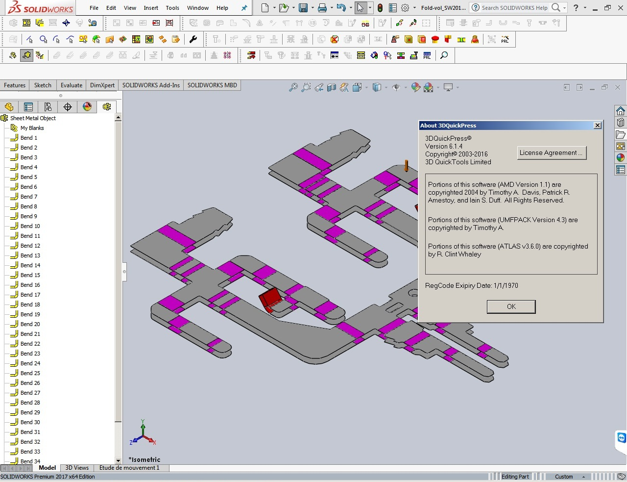 Working with 3DQuickPress v6.1.4 HotFix for SolidWorks 2011-2017 64bit full crack