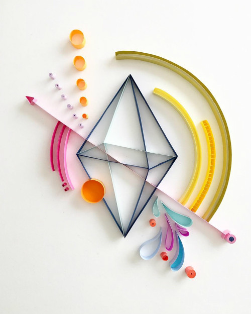 Abstract Geometric Quilling by Akiko Makihara