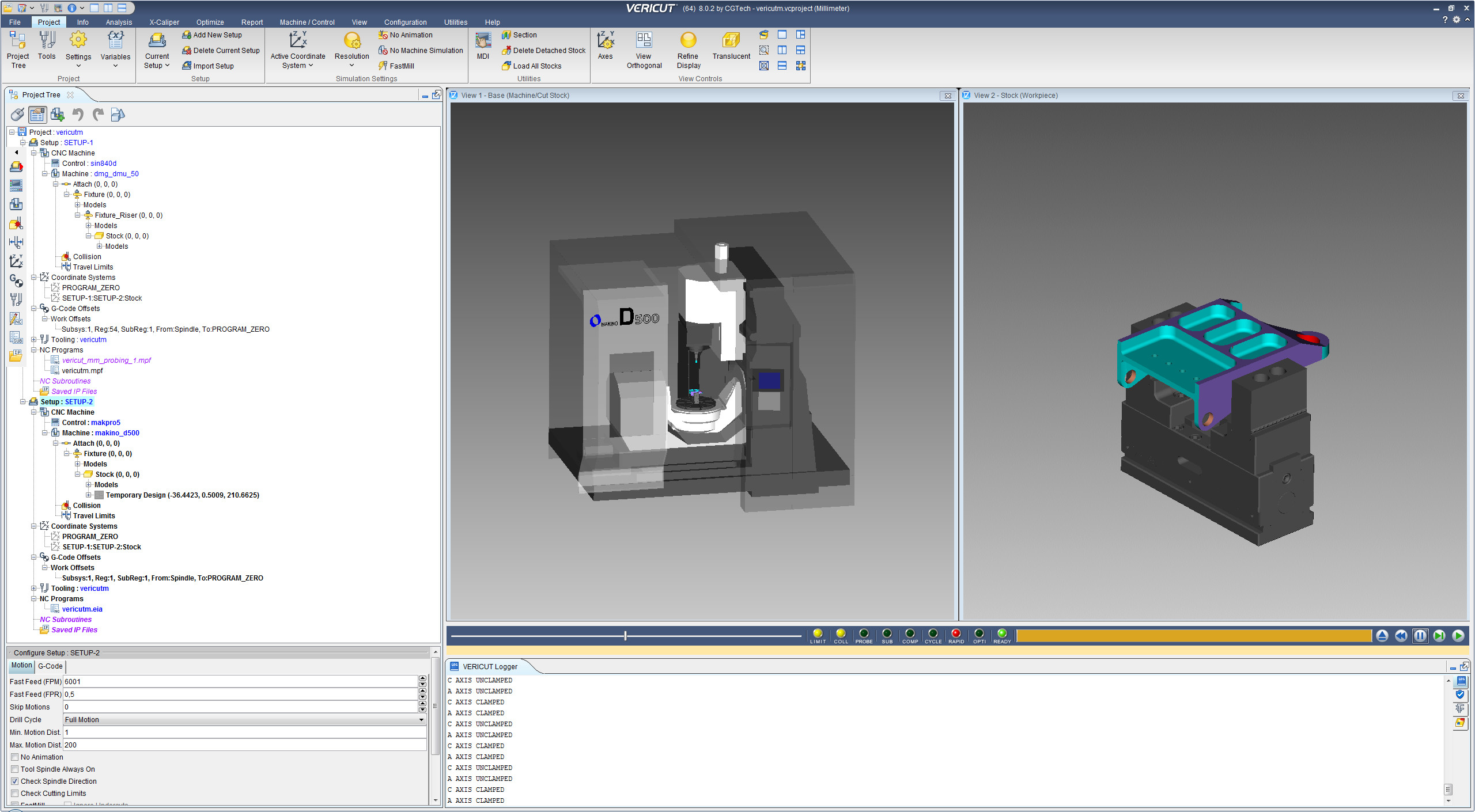 Machining with CGTech VERICUT 8.0.2 64bit full
