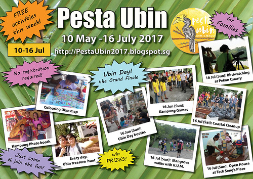 Pesta Ubin 2017 poster: this week 10-16 July