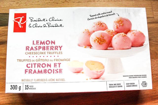 President's Choice Lemon Raspberry Cheesecake Truffles