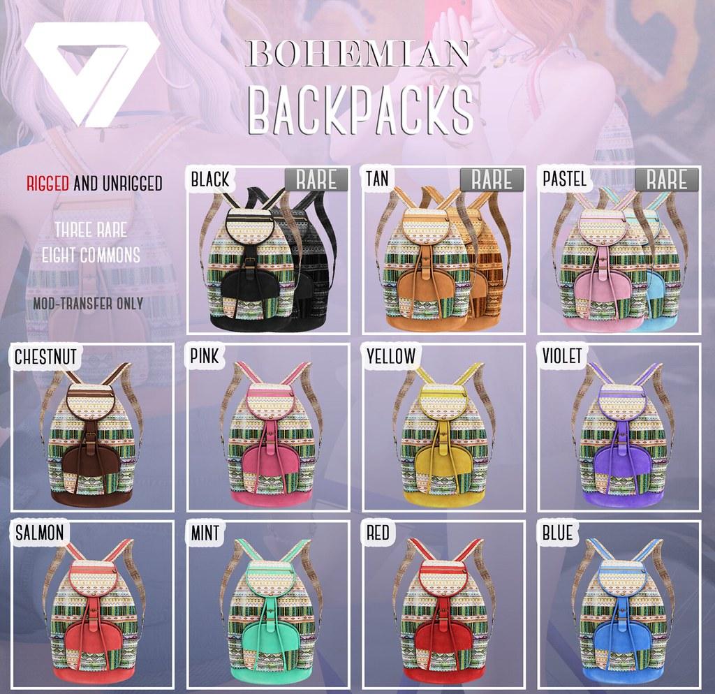 Bohemian Backpacks (for Tres Chic) - SecondLifeHub.com