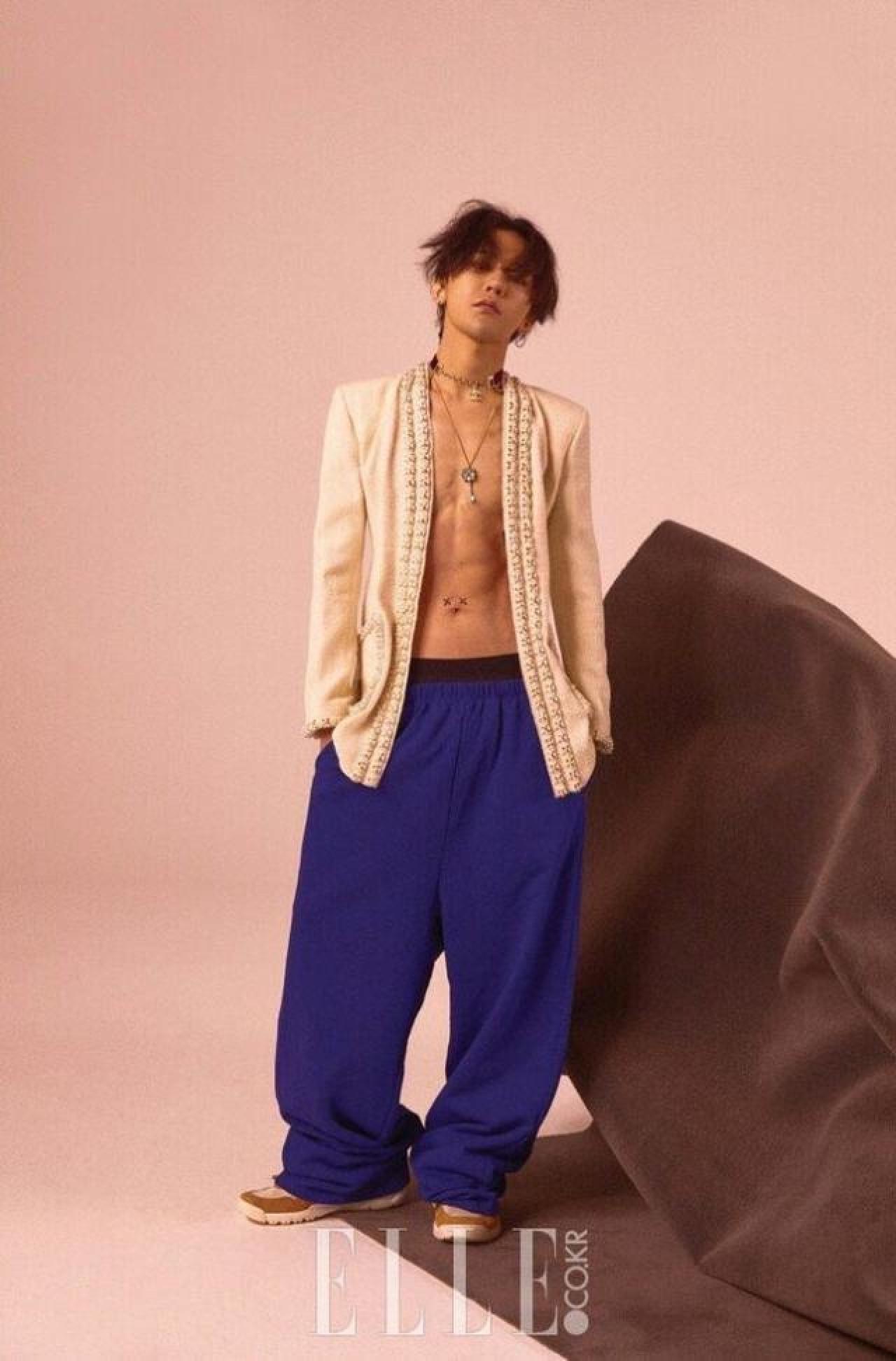 穿上Chanel女裝的G-Dragon(韓國版elle圖片)