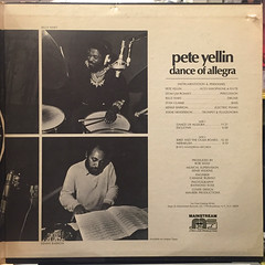 PETE YELLIN:DANCE OF ALLEGRA(JACKET D)