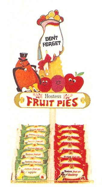 Vintage 1972 Hostess Fruit Pie Store Display