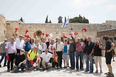Women of the Wall and Paratroopers at the main plaza of Western Wall PHoto Credit Noam Revkin Fenton