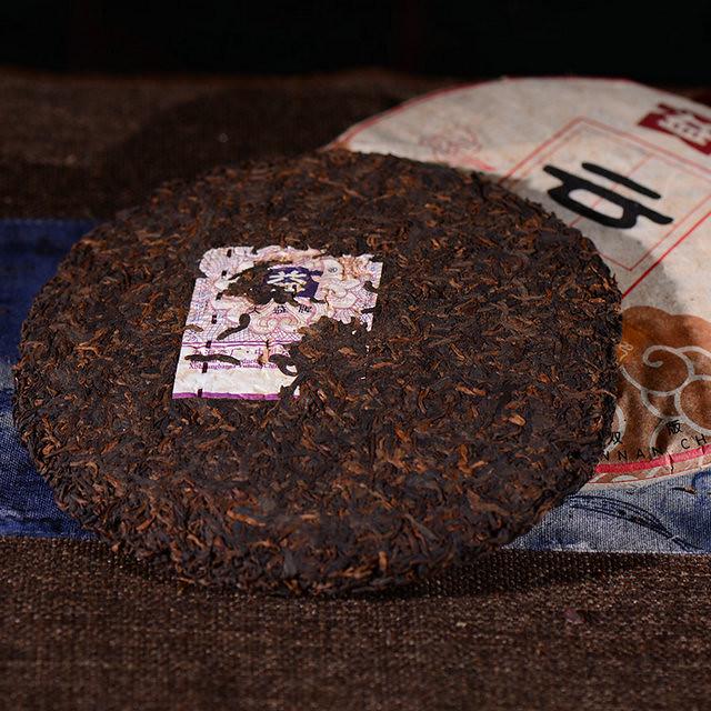 Free Shipping 2009 TAE TEA DaYi Yun Ding Cloud High Mountain Flavor Cake Beeng 357g YunNan MengHai Organic Pu'er Pu'erh Puerh Ripe Cooked Tea Shou Cha