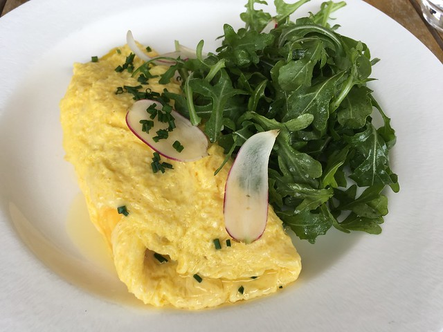 Organic French omelette - The Restaurant at JUSTIN