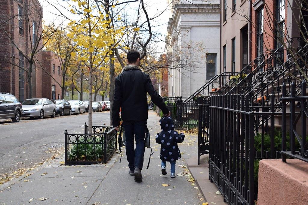 Caminando por Brooklyn.