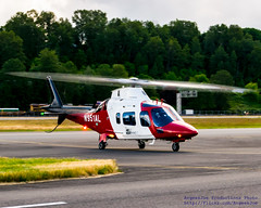 Airlift Northwest Agusta A109 on the KBFI Taxiway