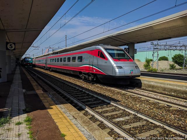 Frecciabianca 8623 Torino - Roma espletato eccezionalmente con materiale ETR.485 pendolino
