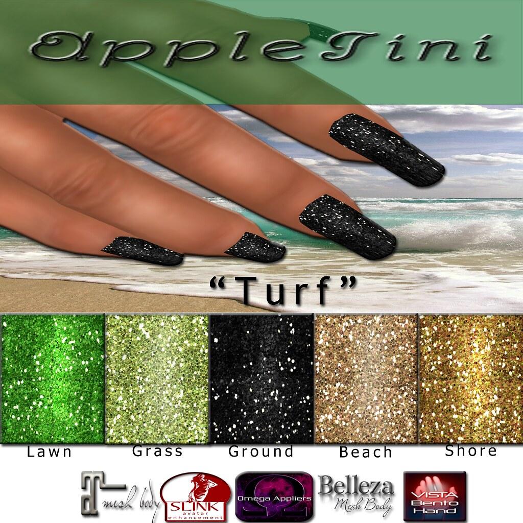 AppleTini Turf Nails - SecondLifeHub.com