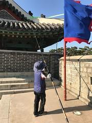 Kite flew on the roof - Suwon Korea
