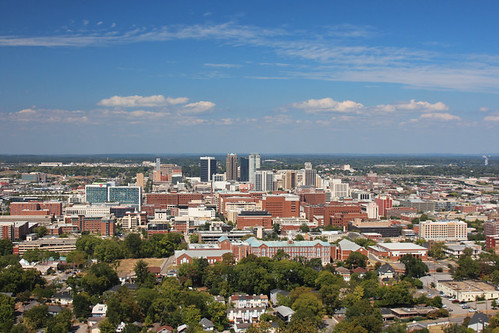 birmingham alabama al october 2016 skyline architecture vulcan park museum