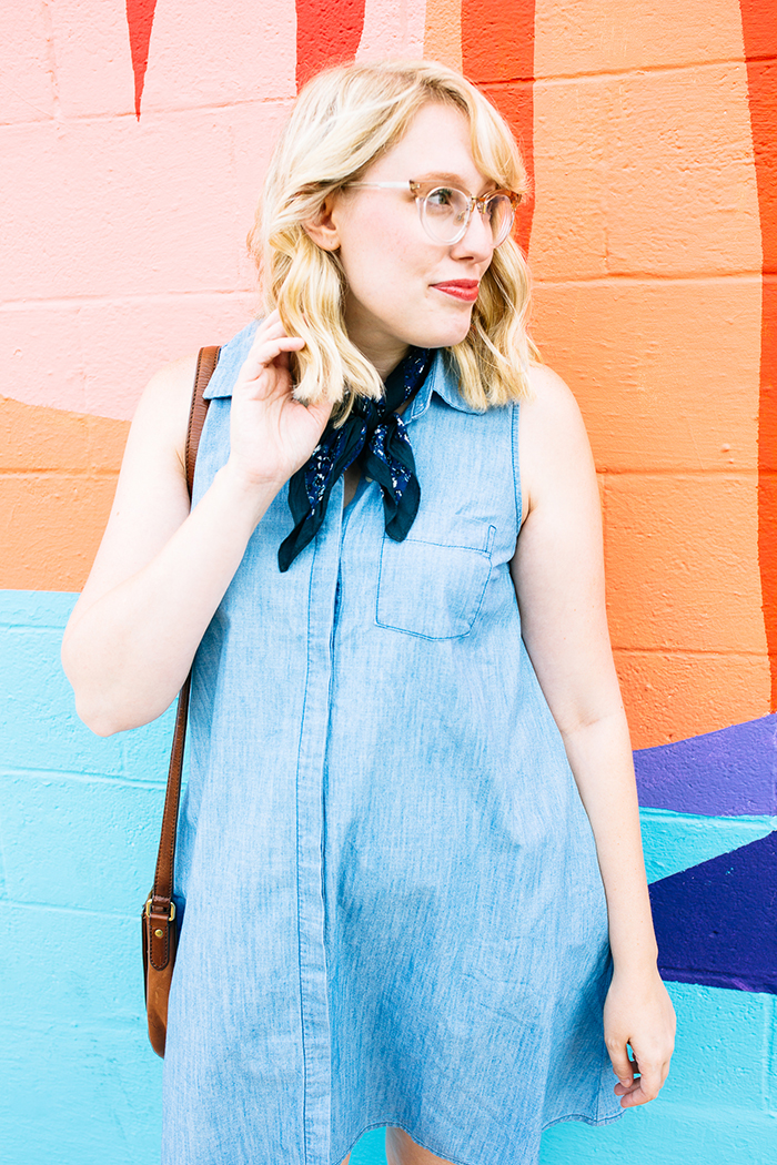 austin fashion blogger writes like a girl old navy denim dress19